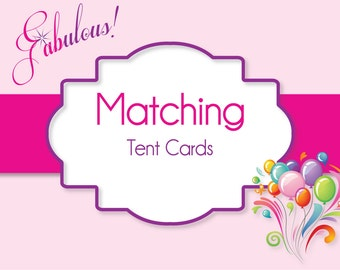 Tent Style Labels - Printable Party Favor, Place Card Settings and More