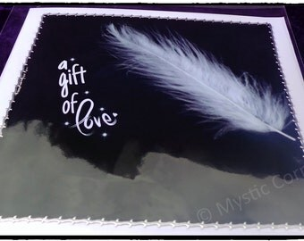 Angel Feather Card 1, Feather Greetings Card, Angel Feather Greetings Card, Angel Card, Greetings Cards, Blank Greetings Cards