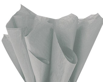 GRAY Tissue Paper 24 Sheets Premium Tissue Paper for Craft Projects, Gift Wrapping, and DIY