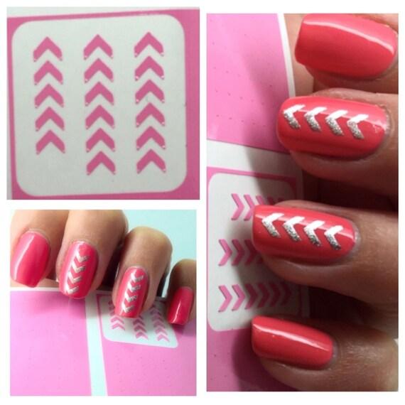 chevron nail stencils