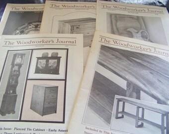 Vintage The Woodworkers Journals 1980,1981,1982