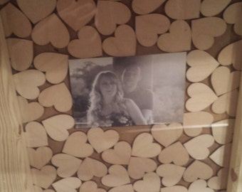 Wedding drop box guest book with picture