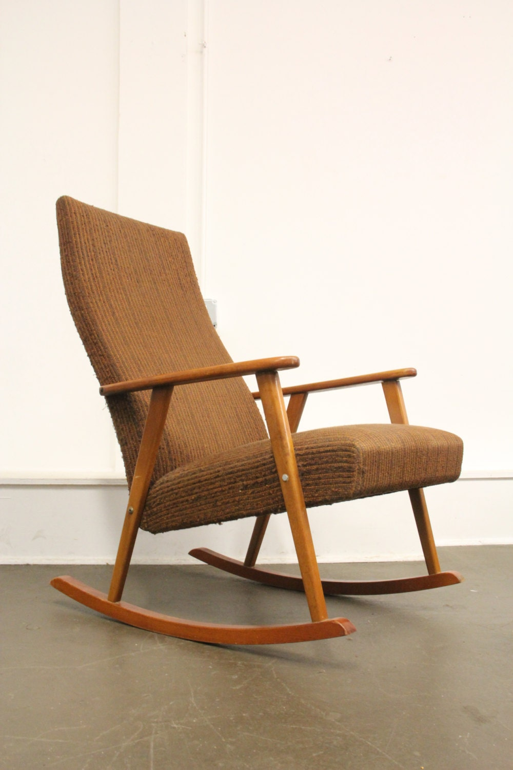 soldmid century modern johanson vintage rocking chair. Black Bedroom Furniture Sets. Home Design Ideas
