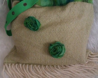 Green Decorated Bag