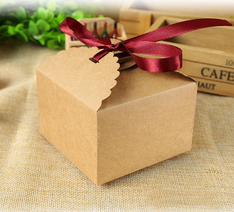 70 small kraft paper boxes diy craft baking jewelry for Paper containers diy