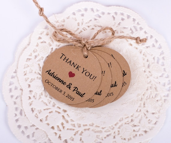 Wedding Favor Thank You Gift Tags Wedding Favor Personalized Gift Labels (Set of 25)
