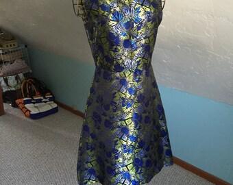 A-line Butterfly Brocade dress