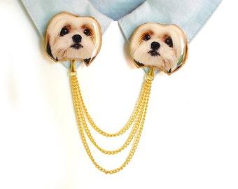 Shih tzu , shih tzu jewelry , shih tzu gift , shih tzu lover , japanese dog , shih tzu art , dog breed jewelry , dog owner gift , dog lover
