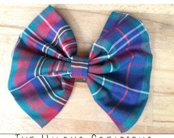 Large Floppy Plaid Bow
