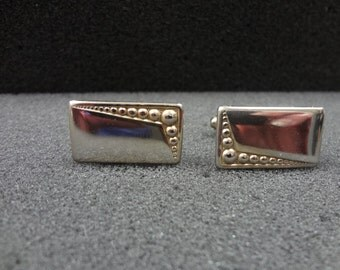 Vintage Rectangle Cuff links - Gold Tone