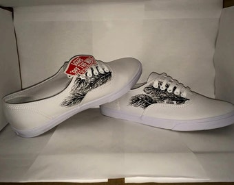 White Feather Vans
