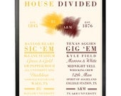 Items similar to Collegiate House Divided Poster **Choose ...