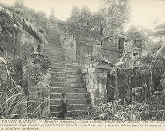 Antique Postcard - Les Ruines d'Angkor