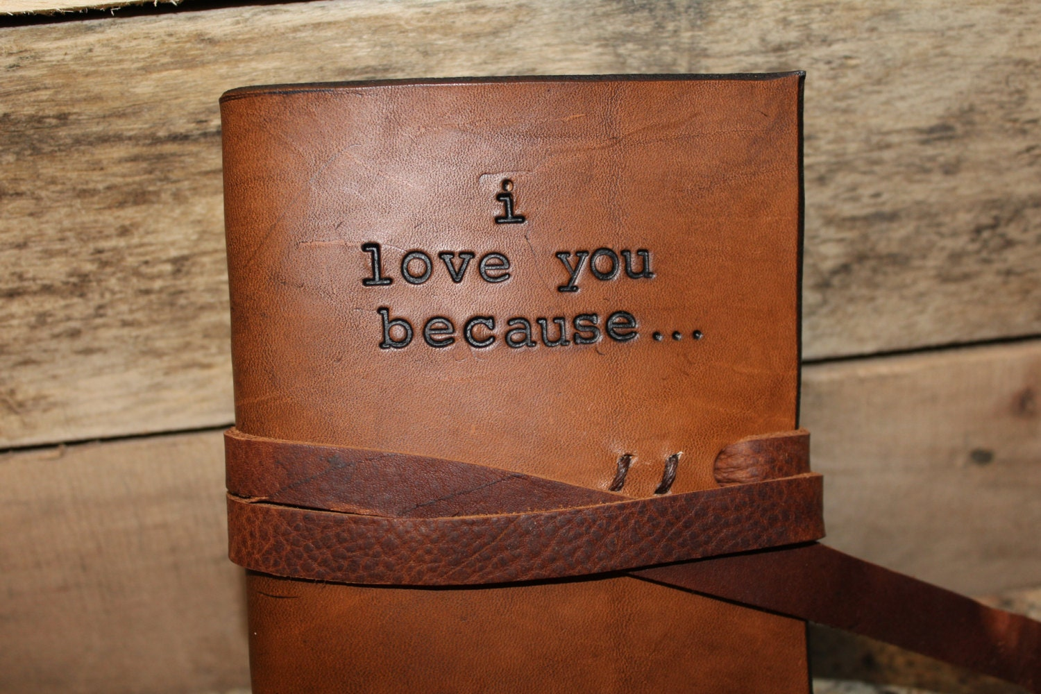 Gift For 3rd Wedding Anniversary: I Love You Because Journal Third Anniversary Leather 3rd