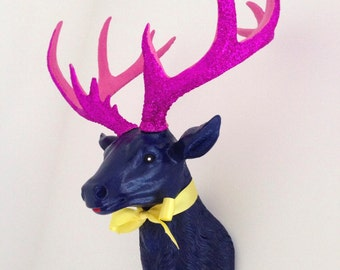 LARGE Unique Faux Taxidermy Stag Deer Head 'CARNIVAL'