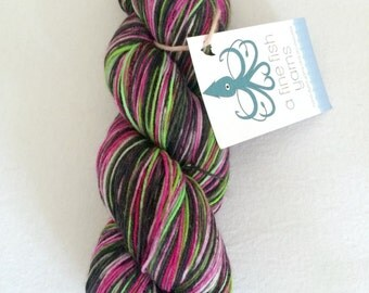 "Hand Dyed Sock Yarn - ""Cyber"" - DYED TO ORDER"