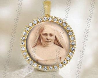 St. Marie Amandine Medal Catholic Gold Tone Jewelry NEW
