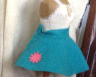 Retro Rock N' Rock Circle Doll Skirt