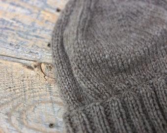 Mens wool hat, skull cap, mens gift idea, Mens winter hat, Mens gray wool hat, Mens wool beanie, Mens brown hat, Mens beanie