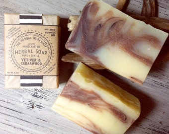 Vetiver & Cedarwood - Organic Soap