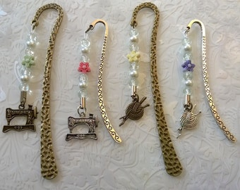 Antique bronze sewing bookmarks~singer sewing machine~tibetan silver knitting bookmark