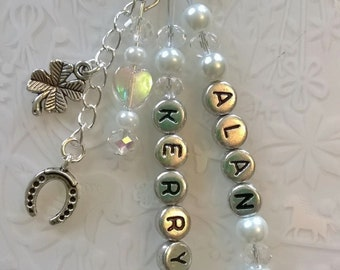 Wedding day Congratulations~Driving Test bag charm~New Home bag charms with organza gift bag