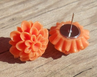 20mm Summer Orange Mum Flower Posts
