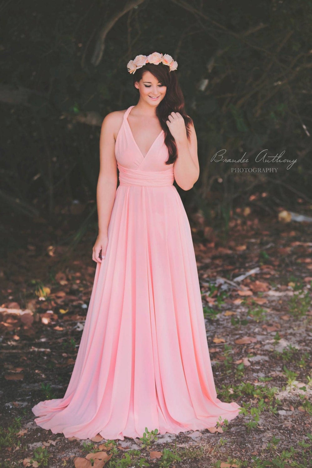 maternity baby shower bridesmaids photo prop dress light pink by