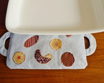 Biscottini casserole trivet PDF sewing pattern - applique pattern - cherry-stones casserole trivet pattern - digital download sewing pattern