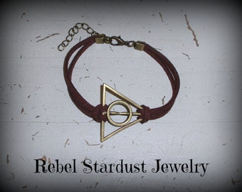 Different colours available. Harry Potter Deathly Hallows bracelet