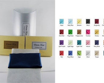 Silk Pocket Square - Multiple Colors