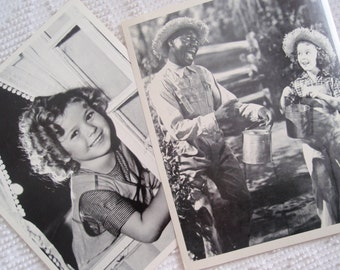 Two Vintage 8 X 10 Photographs Movie Actress Child Star SHIRLEY TEMPLE L1501