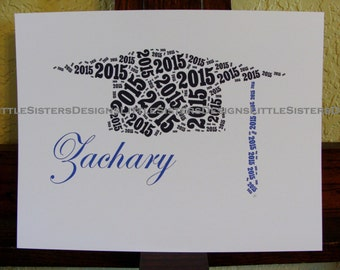 Personalized Graduation Typography Word Art Print