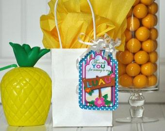 Luau Gift Tags, Luau Thank You Tag, Luau Party Package, Luau Favor Tag, Luau Invitation, Luau  Birthday, Luau Birthday Decorations