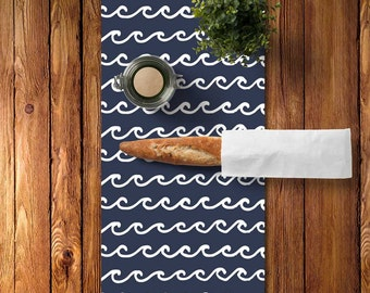 Nautical Decor, Navy Table Runner, Choose Color, Nautical Dining Room, Lake Table Runner, Lake House Decor, Navy Table Runner Nautical Table