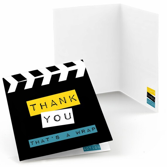 movie hollywood party thank you cards movie theme thank you