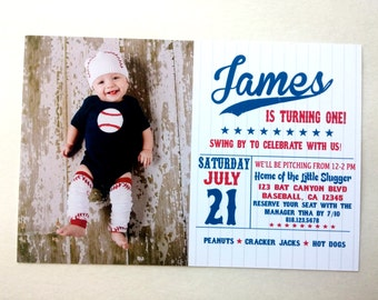 Baseball Little Slugger Invitations