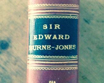 Leather Bound Book -Sir Edward Burne-Jones - by Malcolm Bell - Decorative Shelf Display - Home Decor
