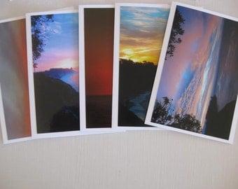 Cards ~   California  Sunset  Ocean  Handmade  Cards  w/envelopes   set/5   (#N40)