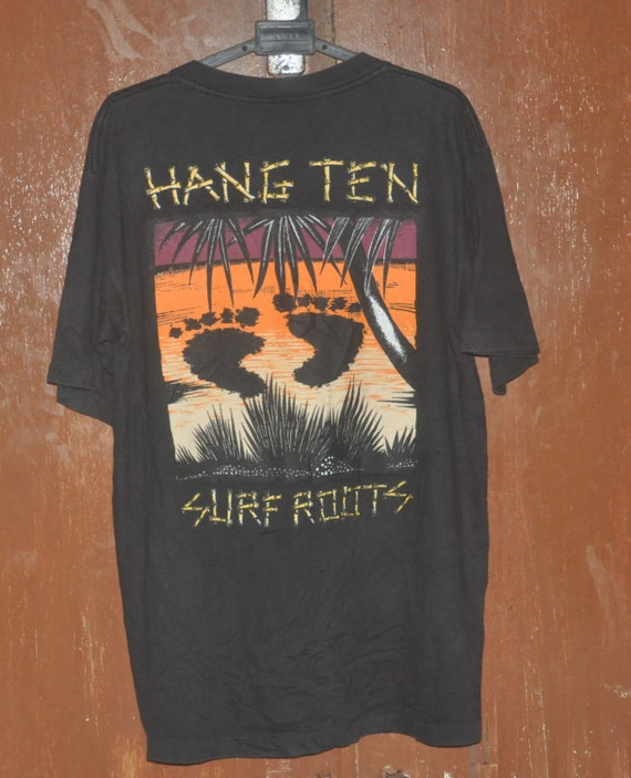 vintage hang ten surf roots skate surf surfer t shirt
