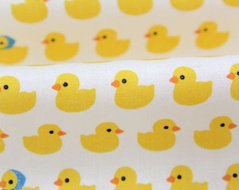 Cute Rubber Ducks Pattern Cotton Fabric by Yard