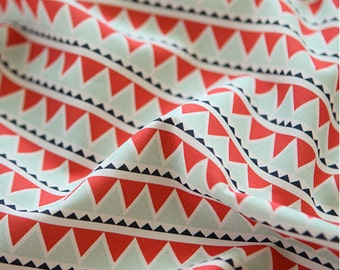 Triangle Pattern Cotton Oxford Wide Width Fabric