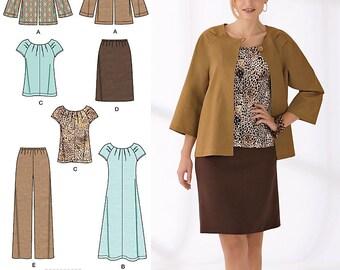 Simplicity Sewing Pattern 2372 Misses' & Plus Size Sportswear