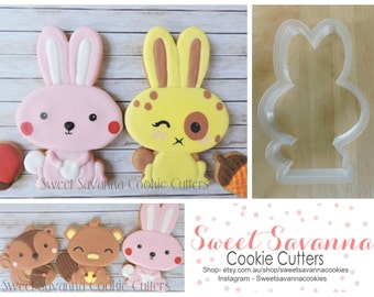 Rabbit Cookie Cutters- Woodlands theme cookie cutter