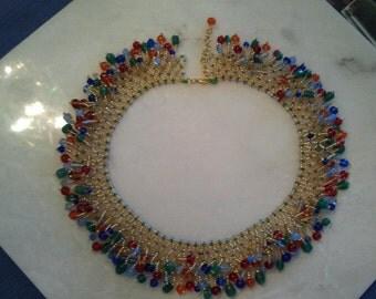 Jill Wiseman's Firework Necklace beaded by Me
