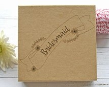 Bridesmaid Gift Box - Wedding matchbox - Brown gift box - kraft gift box - bridesmaid gift - wedding style - gift boxes with lid