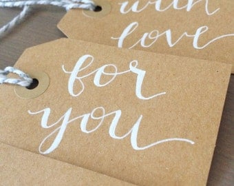 Handlettered Modern Calligraphy Gift Tags (set of 5)