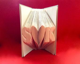 Custom Anniversary gift- Book Sculpture