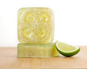 Verbena Lime Soap, Lime Soap, Verbena Soap, Natural Soap, Handmade Soap,Glycerin Soap, Loofah Soap, Bar Soap