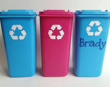 Personalized Trash Can - Garbage Can - Pen/Pencil Holder - Desk Organization